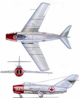 Полковник Евгений Пепеляев, командир 196-го ИАП, летал на этом МиГ-15бис, бортовой 925, во время войны в Корее в 1951 г. МиГ-15 имел неокрашенную металлическую обшивку с нанесенными на ней опознавательными знаками. Все МиГ-15 носили опознавательные знаки Северокорейских ВВС.