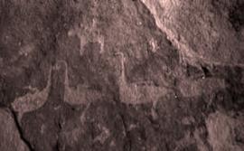 Петроглифы на утёсе Саган-Заба (Байкал)