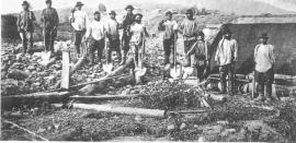1911. Рабочие Благовещенского прииска Ленских золотых приисков