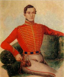 Портрет И.В. Поджио кисти неизвестного художника. Начало 1820-х