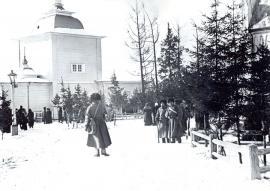 Иркутские казаки на территории Вознесенского скита. До 1917