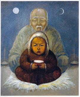 Божество Саган Убгэн, или Белый Старец