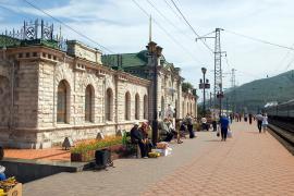 Вокзал станции Слюдянка