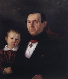 П.П. Сукачёв с сыном