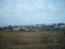 Посёлок Танхой. Вид с автодороги М55.
