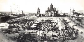 До 1917. Вид с колокольни Тихвинской церкви