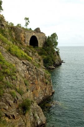 One of the tunnels of Round Baikal Railway