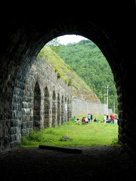 One of the abandoned tunnels Circum-Baikal Railway