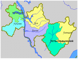 Эхирит-Булагатский район на карте УОБО