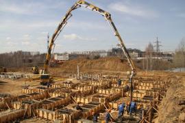 ООО «Газпром добыча Иркутск» начало работы по бетонированию фундамента водноспортивного комплекса в Иркутске