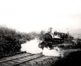 Поезд на Бодайбинской железной дороге. Фото конца XIX века