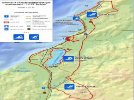 """Карта зоны """"Байкальская гавань"""" в Прибайкальском районе Бурятии."""